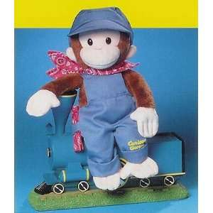 12 Curious George Train Conductor Plush Doll By RUSS